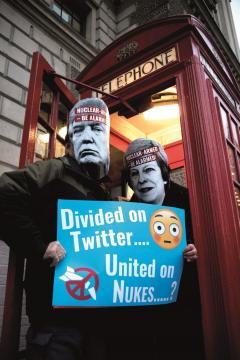 Divided on Twitter. United on Nukes?
