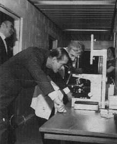 Prince Philip Duke of Edinburgh visiting the unit