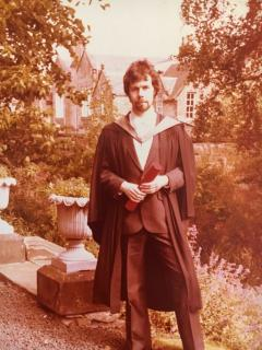 Bill as a student, in his gown