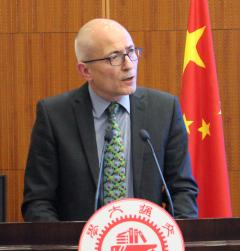 Professor Charlie Jeffery in Shanghai