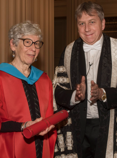 Professor Joan Wallach Scott and Principal and Vice Chancellor, Professor Peter Mathieson