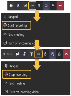 Image showing how to record a Teams meeting