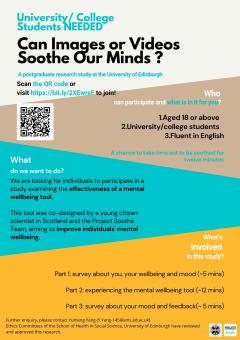 Poster about project soothe. For a screen readable version contact project soothe