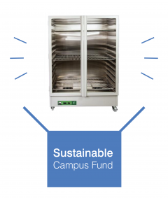 Drying oven coming out of sustainable campus fund box