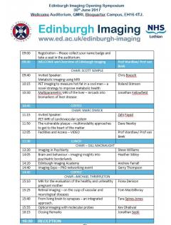 Follow the day on twitter @EdinUniImaging - for hourly news use #EIOS17