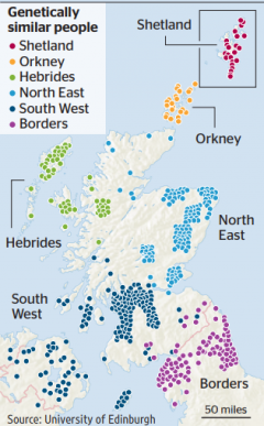 Map of Scottish Genetics