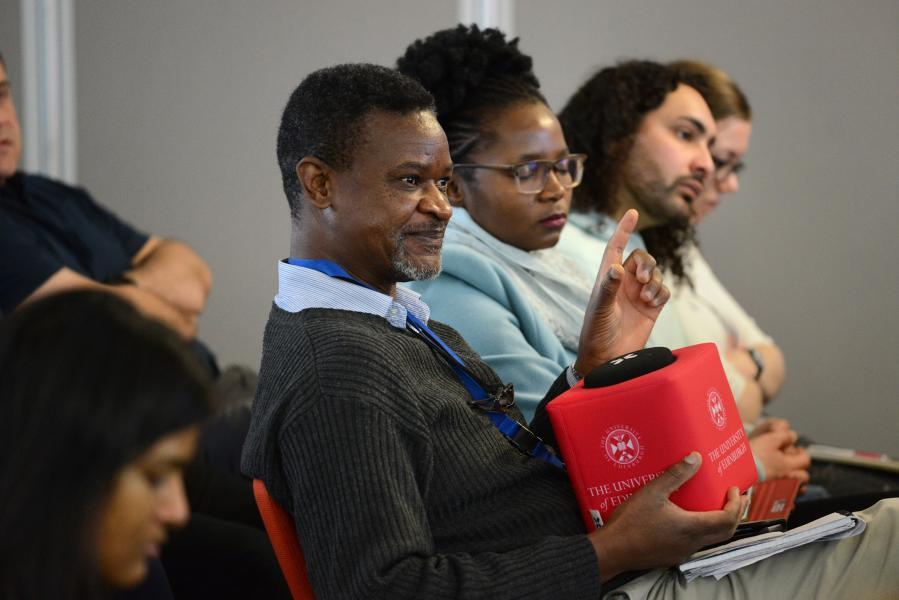 Participants held a lively discussion at the Easter Bush Africa Week Research Dialogue