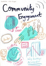 Community engagement illustration