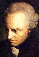 Immanuel Kant painted portrait